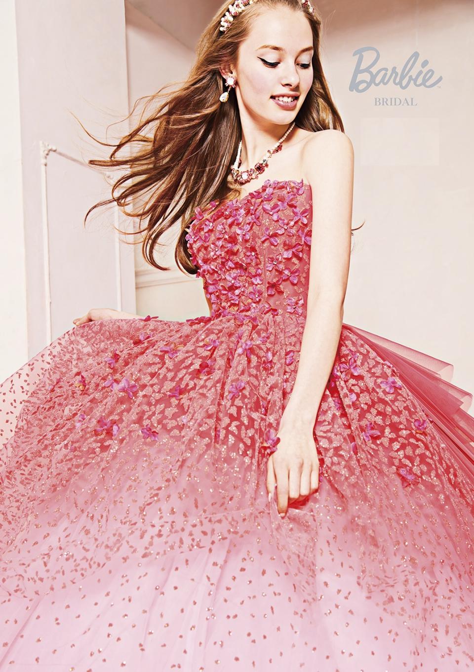 Barbie BRIDAL カラ-ドレスピンク