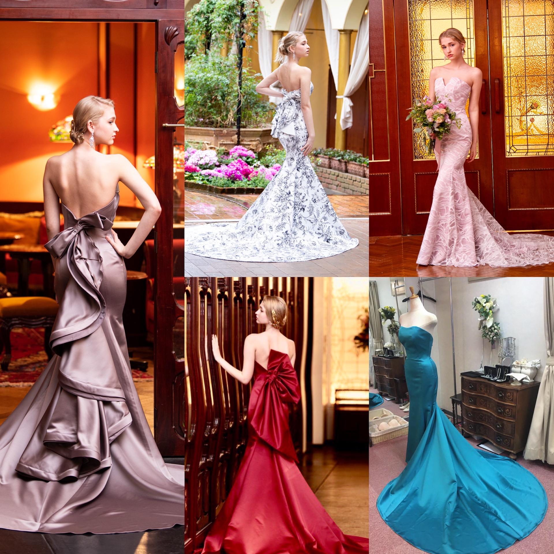 ◇カラーのマーメイドドレス。お好きなお色で作ります!