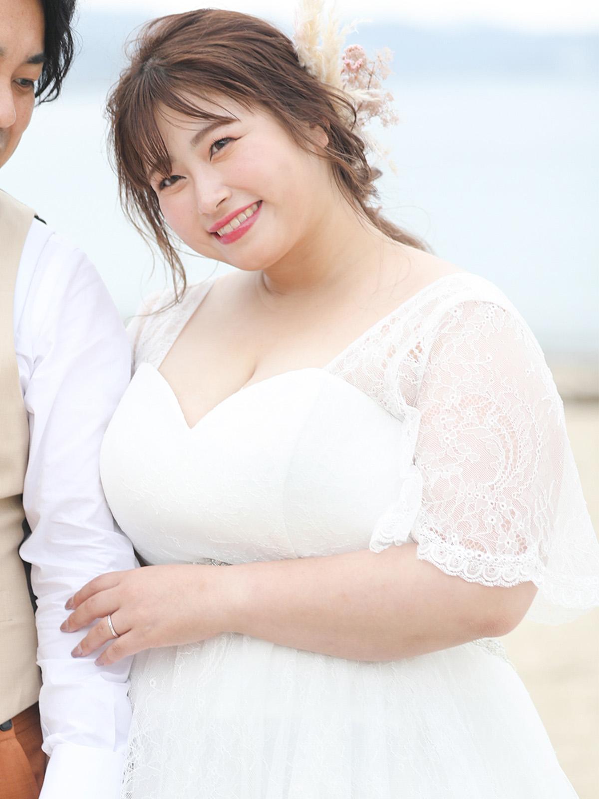 【六本木試着会】ぽっちゃり花嫁専用ウエディングドレス Curvy~カーヴィ